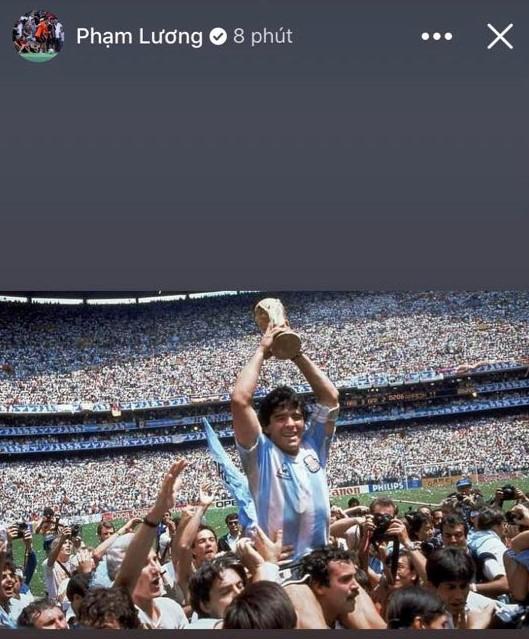 HLV Hoàng Anh Tuấn, cầu thủ Quế Ngọc Hải, Thành Lương tiếc thương sự ra đi của cố huyền thoại Diego Maradona - Ảnh 5.
