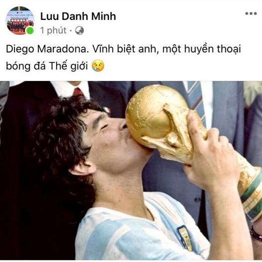 HLV Hoàng Anh Tuấn, cầu thủ Quế Ngọc Hải, Thành Lương tiếc thương sự ra đi của cố huyền thoại Diego Maradona - Ảnh 4.