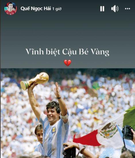 HLV Hoàng Anh Tuấn, cầu thủ Quế Ngọc Hải, Thành Lương tiếc thương sự ra đi của cố huyền thoại Diego Maradona - Ảnh 7.