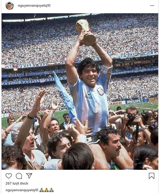 HLV Hoàng Anh Tuấn, cầu thủ Quế Ngọc Hải, Thành Lương tiếc thương sự ra đi của cố huyền thoại Diego Maradona - Ảnh 6.