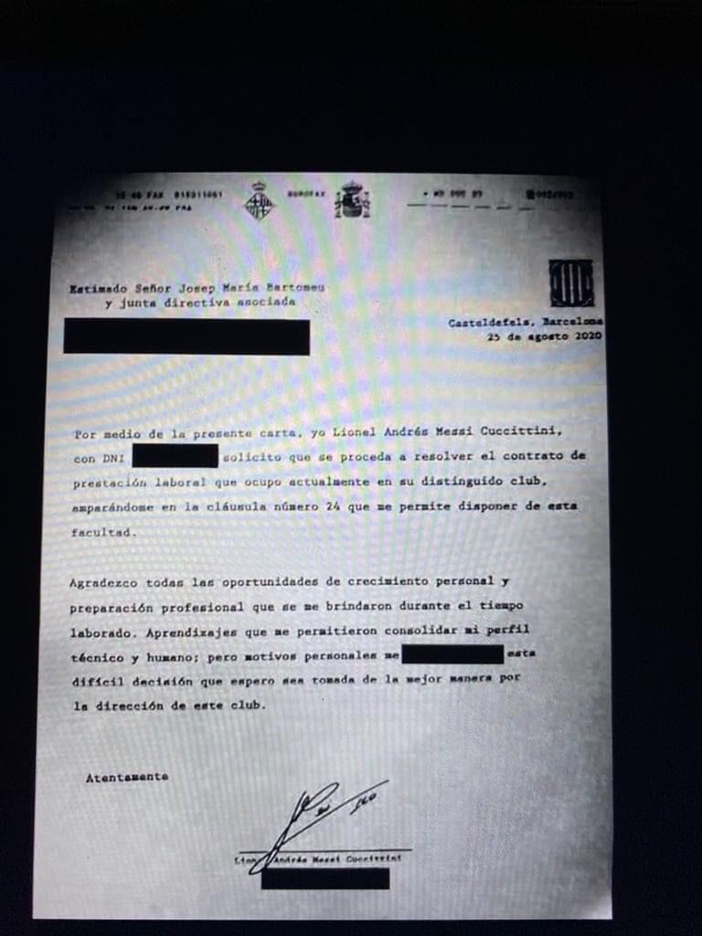 Chi tiết nội dung bản fax Messi gửi lên Barca để xin ra đi - Ảnh 1.