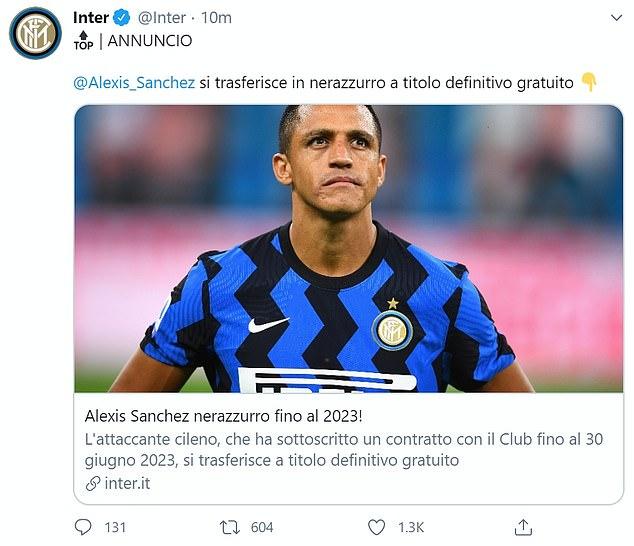 """Man United đẩy thành công """"bom xịt"""" Alexis Sanchez sang Inter - Ảnh 1."""