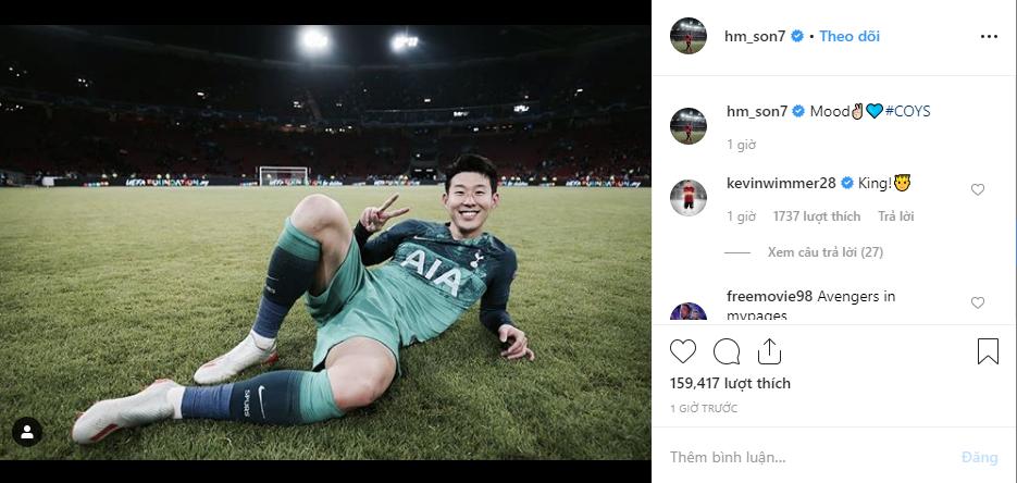 Sau khi cùng đội nhà tạo nên lịch sử, oppa Son Heung-min đã khiến tài khoản mạng xã hội hết mốc bằng bài đăng đặc biệt này đây - Ảnh 1.