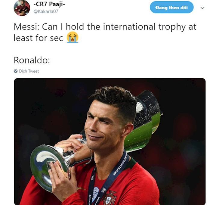 Messi bị troll không thương tiếc trên mạng xã hội sau khi Ronaldo giành thêm danh hiệu với ĐT Bồ Đào Nha - Ảnh 10.