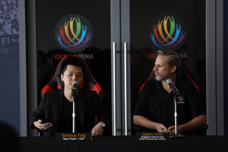Ông Terence Ting tại sự kiện ra mắt phòng luyện tập Sports-hub tại Singapore