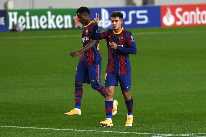 Barcelona đại thắng 5-1 trận ra quân Champions League: Messi cân bằng kỷ lục với huyền thoại MU - ảnh 6
