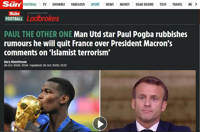 The Sun phải xóa bài và sửa sai sau khi bị Pogba công khai chỉ trích kịch liệt - Ảnh 2.