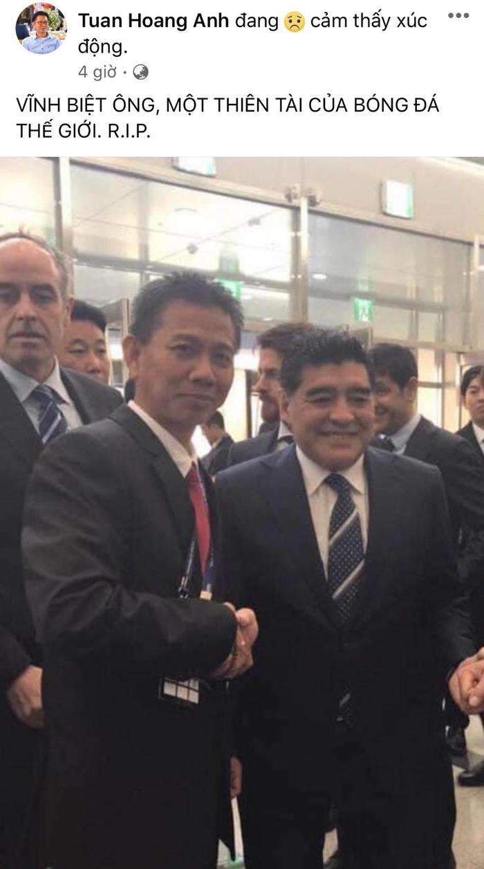 HLV Hoàng Anh Tuấn, cầu thủ Quế Ngọc Hải, Thành Lương tiếc thương sự ra đi của cố huyền thoại Diego Maradona - Ảnh 2.