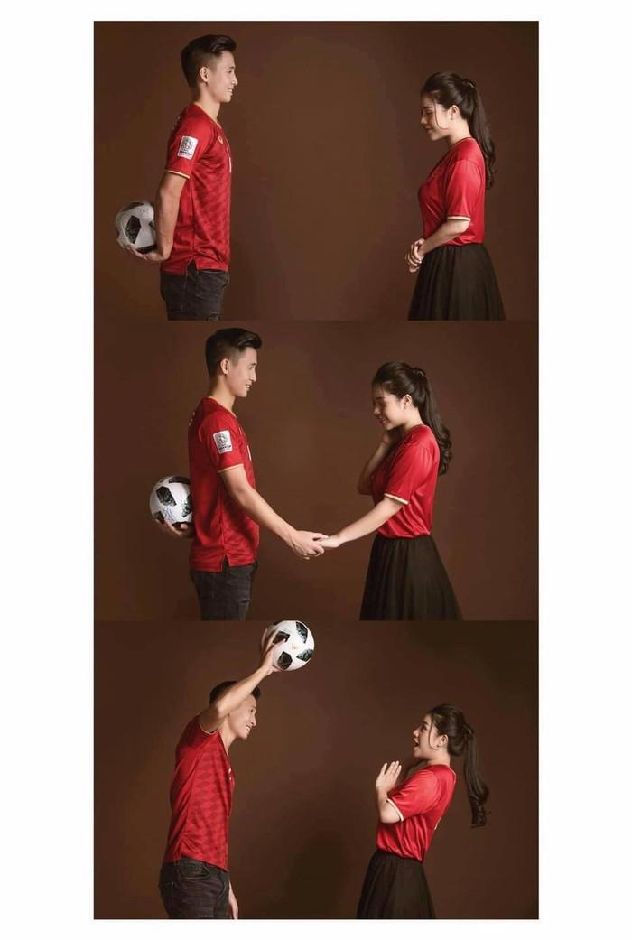 Tiến Dũng khoe ảnh cưới siêu xinh cùng Khánh Linh, chụp theo concept bóng đá - Ảnh 1.