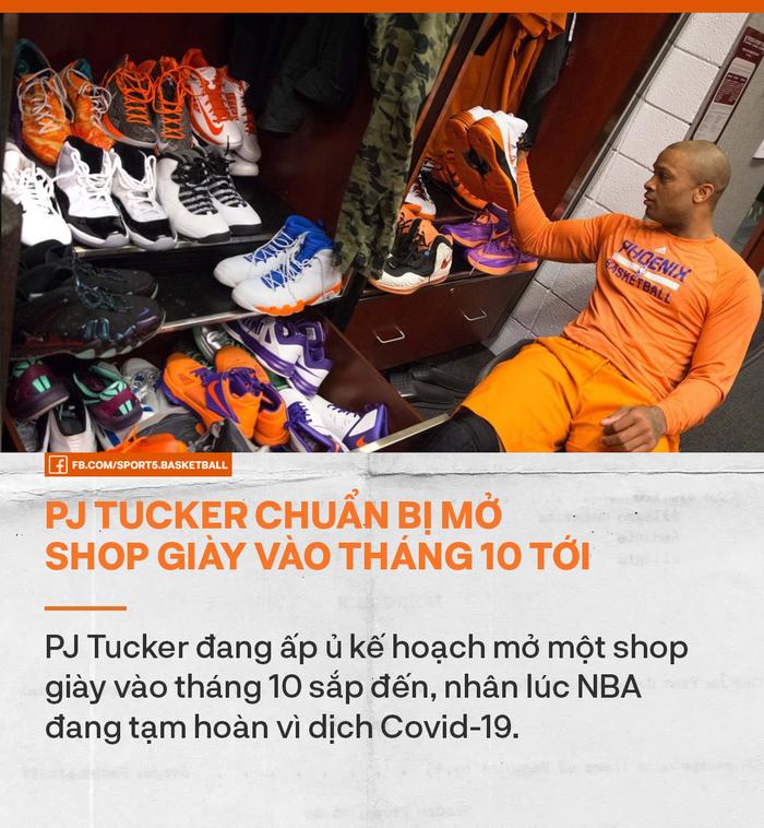 Tranh thủ thời gian NBA hoãn do dịch Covid-19, PJ Tucker ôm mộng trở thành ông chủ tiệm giày - Ảnh 1.