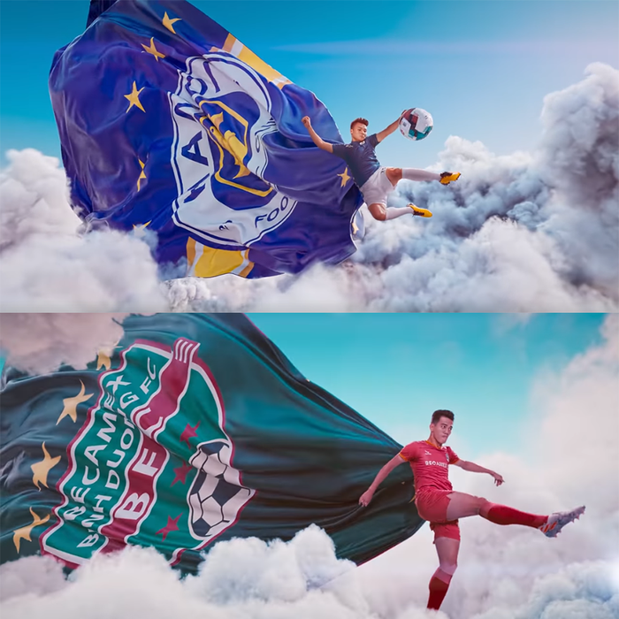 Phát hiện trailer xịn xò của V.League 2020 đạo ý tưởng từ một đài truyền hình cách đây 5 năm - Ảnh 2.