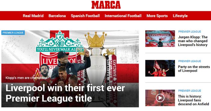 Truyền thông thế giới chúc mừng Liverpool vô địch Ngoại hạng Anh sau 30 năm nhưng vẫn bày tỏ sự nuối tiếc và lo ngại - Ảnh 1.