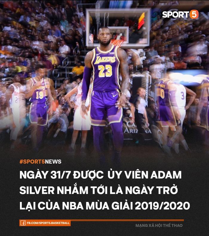 Bốn kế hoạch mà NBA đang nhắm tới để khởi động lại mùa giải 2019-2020 - Ảnh 1.