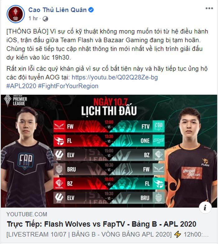 Lỗi nghiêm trọng trên hệ điều hành iOS: Team Flash đấu Baazar Gaming bị gián đoạn, giải PUBG Mobile thế giới phải lùi ngày khai mạc - Ảnh 1.