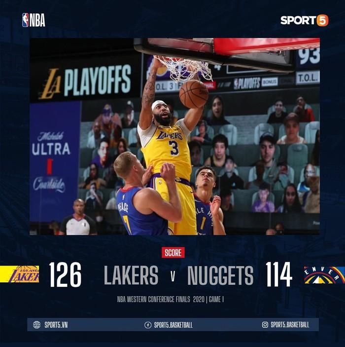 Nikola Jokic gặp rắc rối với lỗi cá nhân, Denver Nuggets sớm đầu hàng trước Los Angeles Lakers ở game 1 - Ảnh 1.