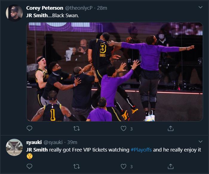 """Xem ngay những khoảnh khắc muốn """"độn thổ"""" của JR Smith trong game 2 chung kết miền Tây NBA 2020 - Ảnh 5."""