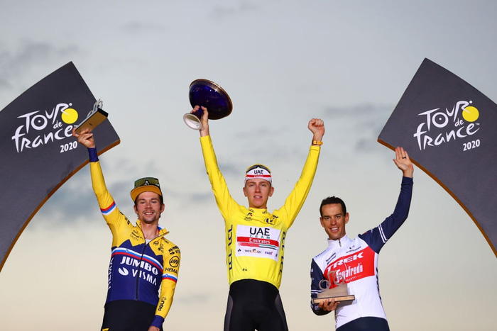 Pogacar trở thành nhà vô địch Tour de France trẻ nhất lịch sử trong vòng 111 năm - Ảnh 4.
