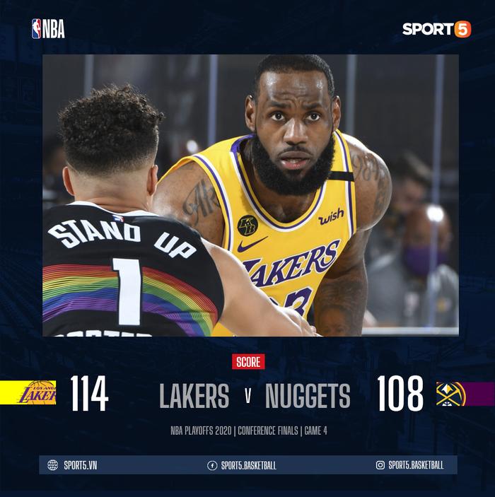 Chứng minh đẳng cấp Playoffs, LeBron James đưa Los Angeles Lakers đến với tỉ số 3-1 trước Denver Nuggets - Ảnh 1.