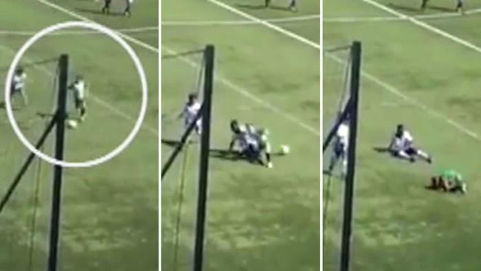 Chứng kiến cầu thủ nhí bị đối thủ đá gãy chân, trọng tài có hành động gây phẫn nộ - Ảnh 2.