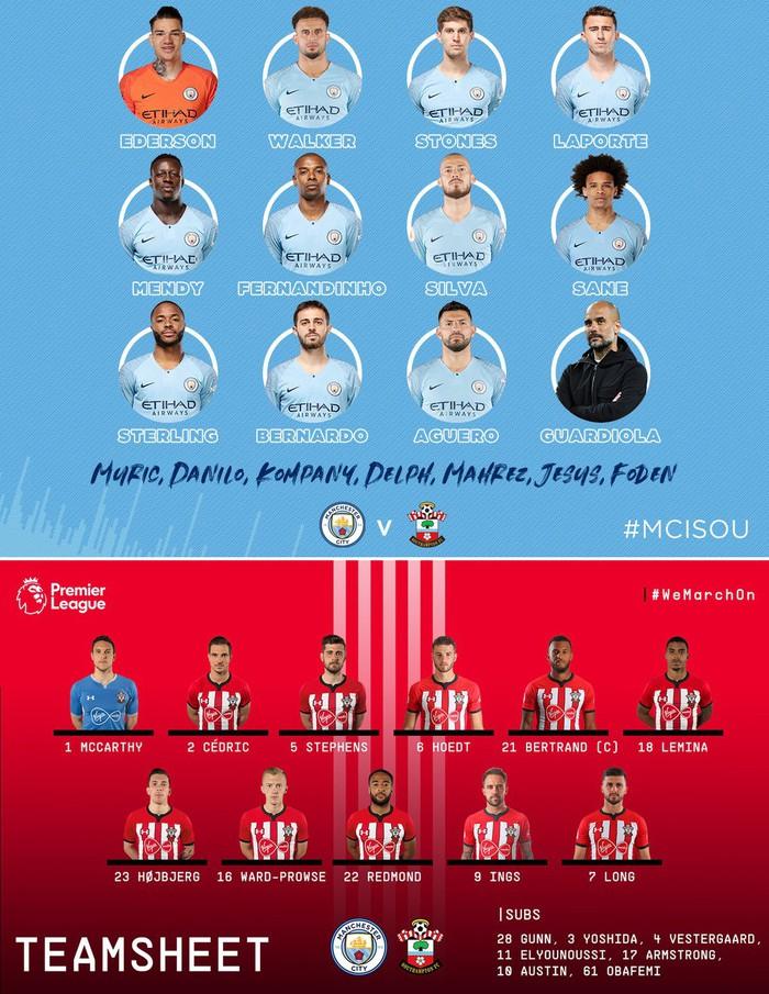 Man City 6-1 Southampton: Man Xanh trở lại ngôi đầu, Kun Aguero đi vào lịch sử Premier League - Ảnh 2.