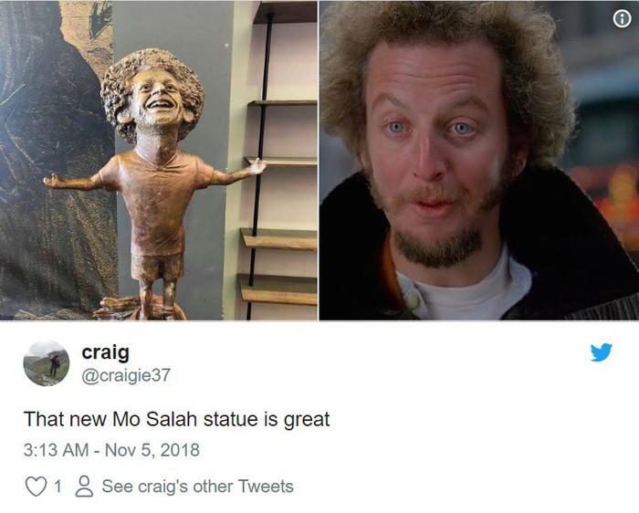 Chết cười với bức tượng xấu tệ của Salah được fan cứng người Ai Cập chế tạo - Ảnh 4.