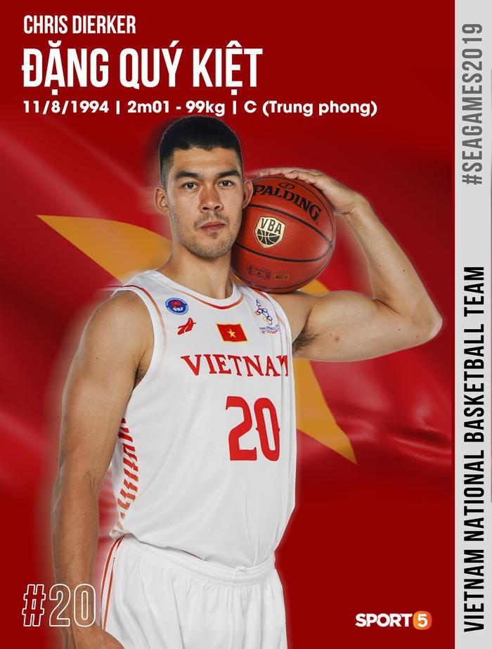 Danh sách chính thức 12 cầu thủ tuyển bóng rổ Việt Nam tham dự SEA Games 30: HLV Kevin Yurkus loại ngôi sao nào? - Ảnh 2.