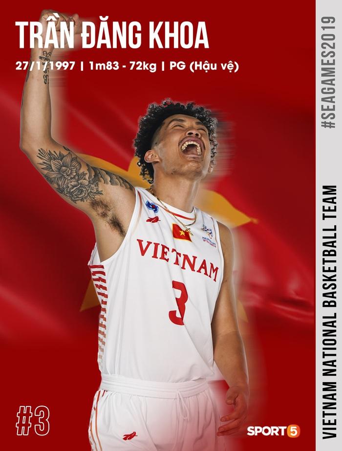 Danh sách chính thức 12 cầu thủ tuyển bóng rổ Việt Nam tham dự SEA Games 30: HLV Kevin Yurkus loại ngôi sao nào? - Ảnh 3.
