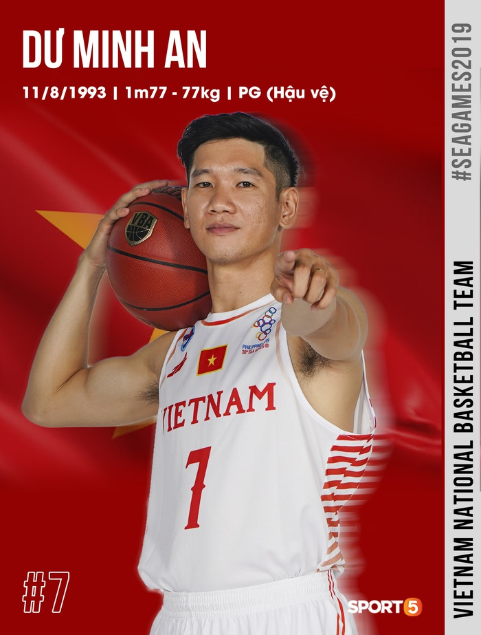 Danh sách chính thức 12 cầu thủ tuyển bóng rổ Việt Nam tham dự SEA Games 30: HLV Kevin Yurkus loại ngôi sao nào? - Ảnh 10.