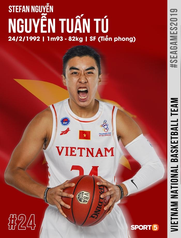 Danh sách chính thức 12 cầu thủ tuyển bóng rổ Việt Nam tham dự SEA Games 30: HLV Kevin Yurkus loại ngôi sao nào? - Ảnh 6.
