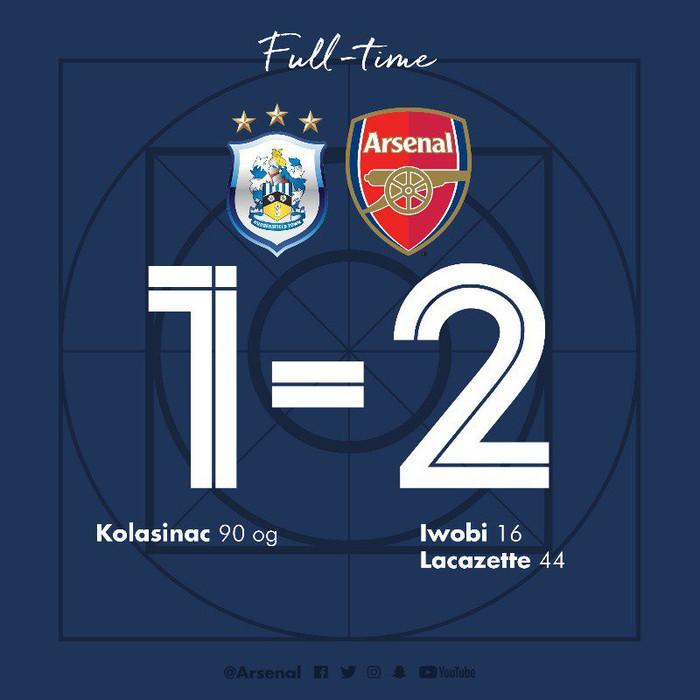 Huddersfield 1-2 Arsenal: Hạ đội cuối bảng, Pháo thủ chấm dứt cơn ác mộng sân khách - Ảnh 2.