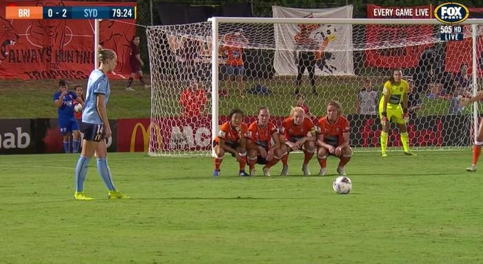 Chuyên gia đá phạt cũng hoang mang tột độ vì chiến thuật xếp hàng rào cực dị của đội bóng nữ Australia - Ảnh 2.