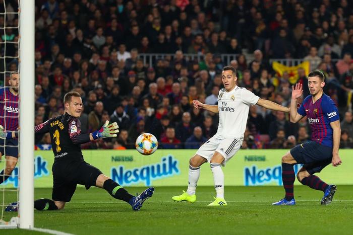 Cầm chân Barcelona tại Camp Nou, Real Madrid giành lợi thế ở bán kết Cúp Nhà vua Tây Ban Nha - Ảnh 2.
