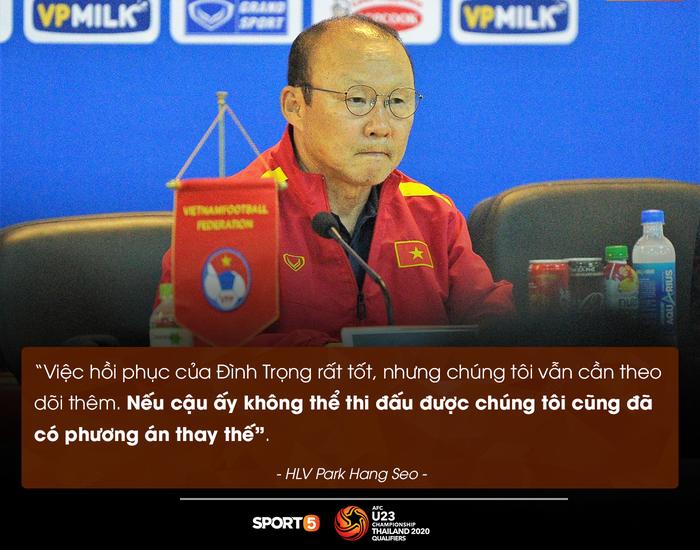 U23 Việt Nam chia tay 3 tuyển thủ vì chấn thương, Đình Trọng vẫn cần theo dõi thêm - Ảnh 1.