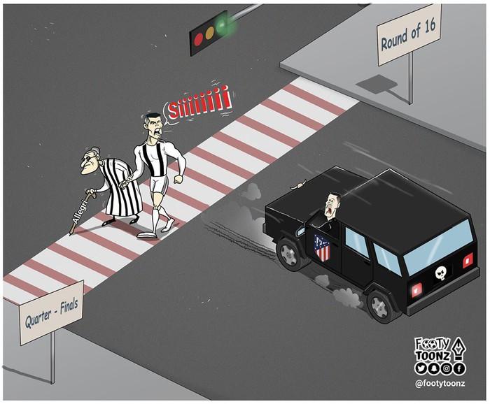 Phong độ thần kỳ của Ronaldo hiện lên đầy hài hước qua những nét vẽ biếm họa - Ảnh 2.