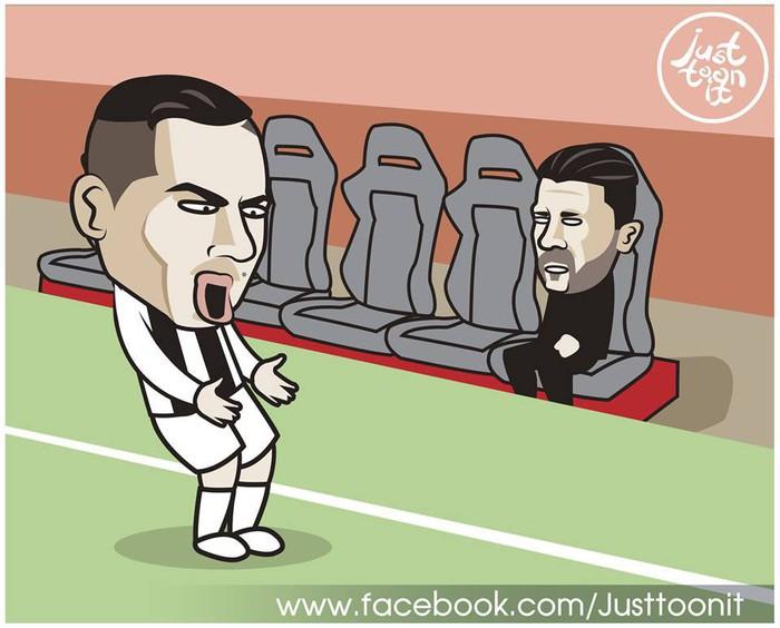 Phong độ thần kỳ của Ronaldo hiện lên đầy hài hước qua những nét vẽ biếm họa - Ảnh 3.