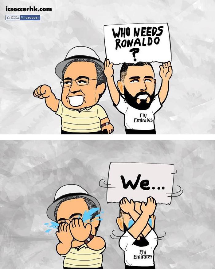 Phong độ thần kỳ của Ronaldo hiện lên đầy hài hước qua những nét vẽ biếm họa - Ảnh 4.