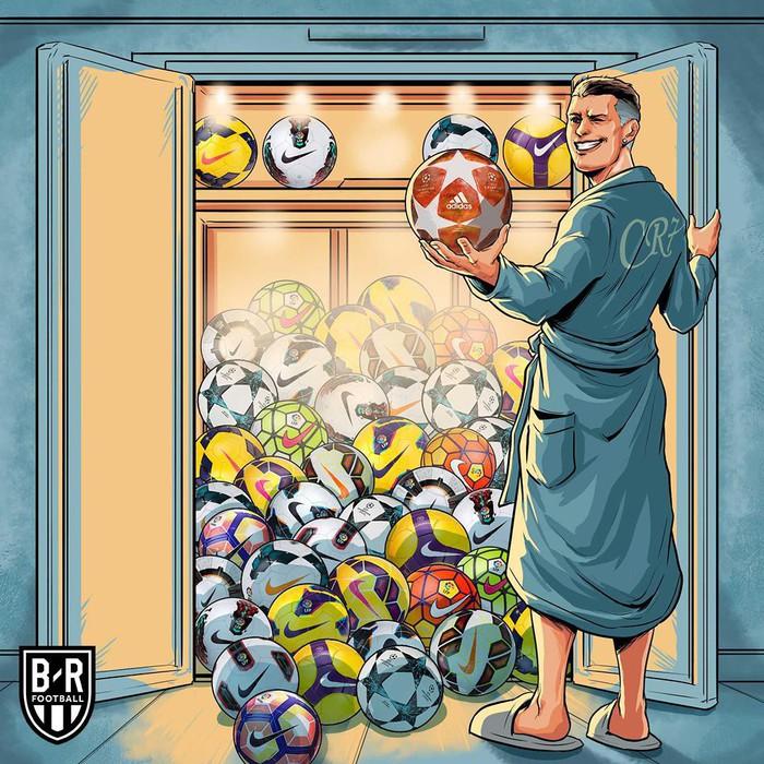 Phong độ thần kỳ của Ronaldo hiện lên đầy hài hước qua những nét vẽ biếm họa - Ảnh 5.