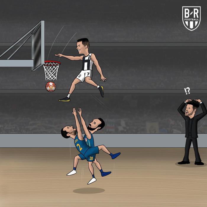 Phong độ thần kỳ của Ronaldo hiện lên đầy hài hước qua những nét vẽ biếm họa - Ảnh 6.