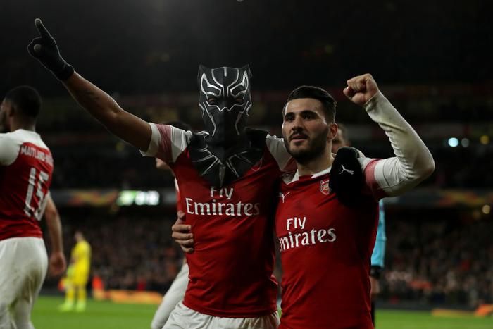 Black Panther xuất hiện, Arsenal ngược dòng xuất sắc tiến vào tứ kết Europa League - Ảnh 6.
