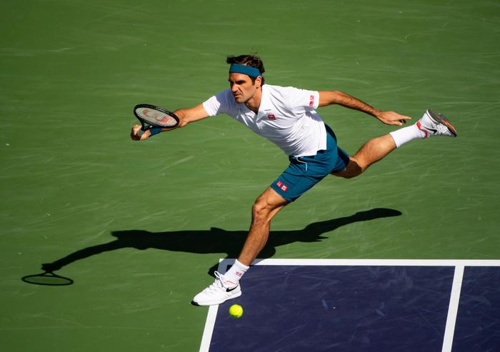 Federer ghi điểm khiến tỷ phú Bill Gates trầm trồ, sẽ đại chiến Nadal ở bán kết Indian Wells - Ảnh 2.
