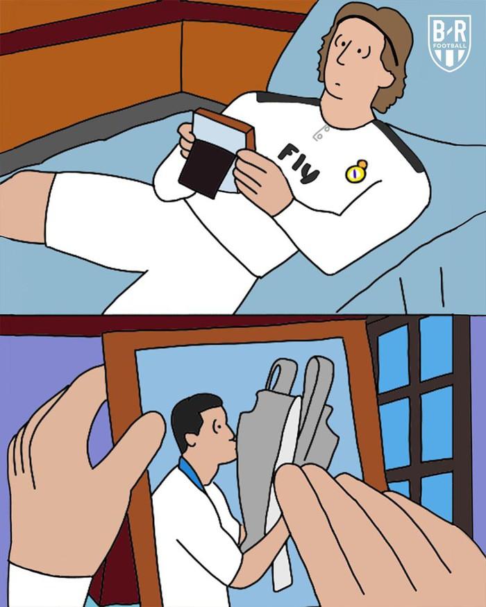 Loạt ảnh biếm họa hóm hỉnh về thất bại đen tối bậc nhất lịch sử Real Madrid - Ảnh 4.