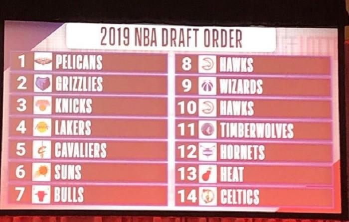 Kết quả NBA Draft Lottery 2019: Pelicans gặp may với 6%, các thánh tank cũng đành cúi đầu trước vận đỏ của Lakers - Ảnh 4.