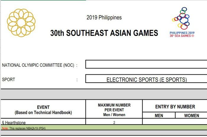 Nóng: Esports Việt Nam thêm cơ hội giành huy chương tại SEA Games 2019 sau thay đổi này của BTC - Ảnh 1.
