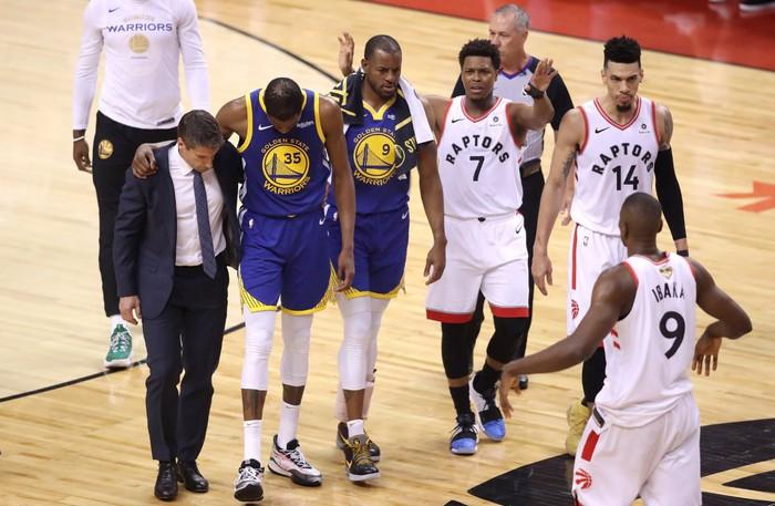 Chấn thương gót chân, mùa giải đã kết thúc với Durant? - Ảnh 3.