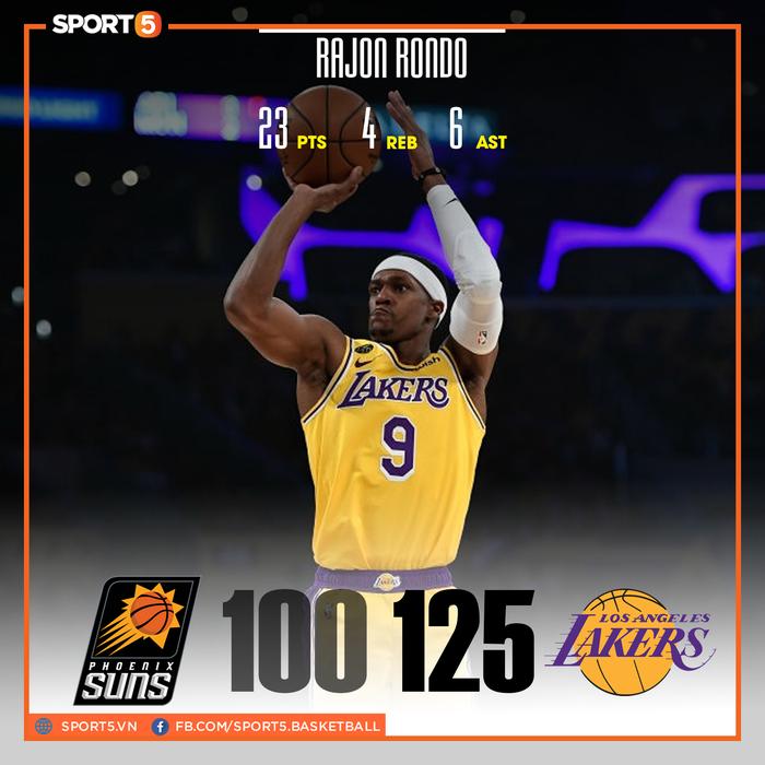 """Rajon Rondo hóa Stephen Curry, Los Angeles Lakers chứng tỏ """"đẳng cấp vượt trội"""" trước Phoenix Suns - Ảnh 1."""