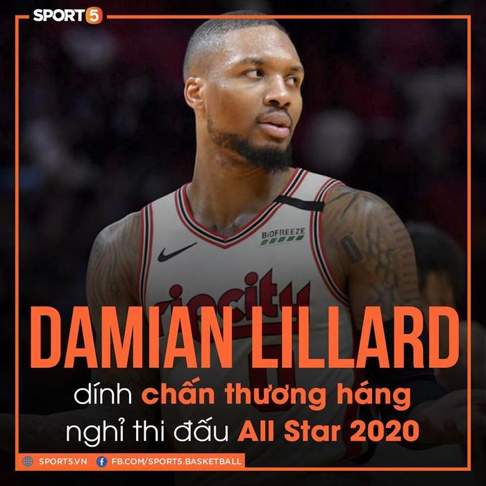 Chia tay All-Star vì chấn thương, Damian Lillard tiến cử người thay thế tại All-Star 2020 - Ảnh 1.