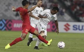 Ứng viên Indonesia chật vật đánh bại đội bóng tệ nhất lịch sử AFF Cup