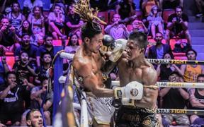 """Bất chấp đổ máu, """"Thánh Muay"""" Buakaw vẫn hạ đẹp nhà vô địch châu Âu"""