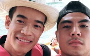 """Các cầu thủ Hà Nội FC """"mừng công"""" sớm tại Nha Trang"""