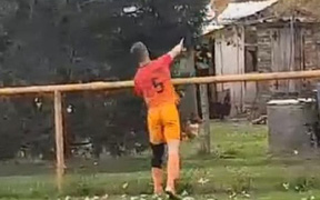 Hy hữu: Cầu thủ bị truất quyền thi đấu chỉ vì đá chết một con gà ngay trên sân